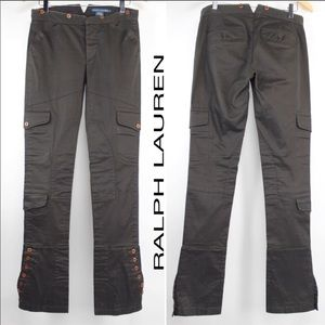 Ralph Lauren Brown Cargo Jodphur Trouser Pants 993